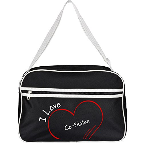 Retrotasche Modern I Love Co-Piloten schwarz