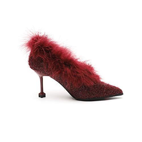 Sandales Bordeaux 36 5 Femme BalaMasa APL11212 Compensées Rouge 7q7RBO