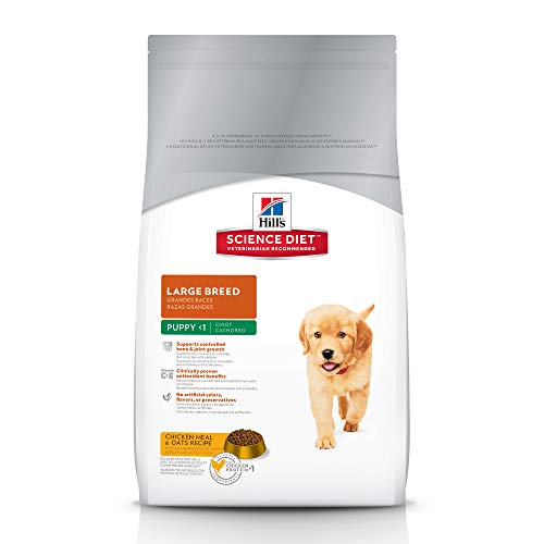 Hill'S Science Diet Large Breed Puppy Food, Chicken Meal & Oats Recipe Dry Dog Food, 15.5 Lb Bag