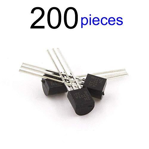 McIgIcM 2n2222 transistor,200pcs 2n2222 to-92 transistor NPN 40V 600mA 300MHz 625mW Through Hole 2n2222a