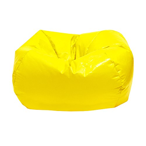 Gold Medal Bean Bags Small/Toddler Wet Look Vinyl Bean Bag, Yellow by Gold Medal Bean Bags