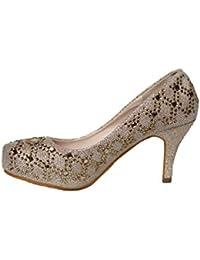 Women's Fashion Low Heels (MARIA01) Cinderella Princess...