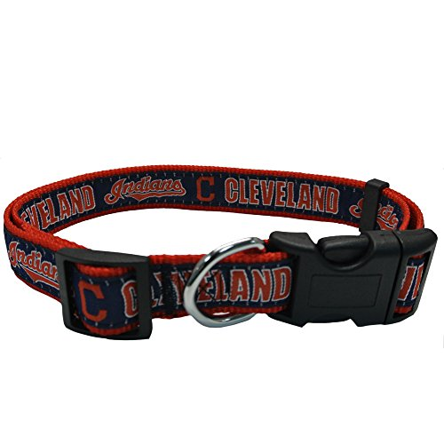 MLB CLEVELAND INDIANS Dog Collar, Medium ()