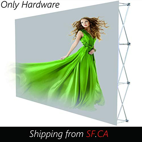 8'x10' (3x4) Velcro Tension Fabric Straight Pop Up Display Stand Trade Show Backdrop Booth Frame (ONLY Hardware)