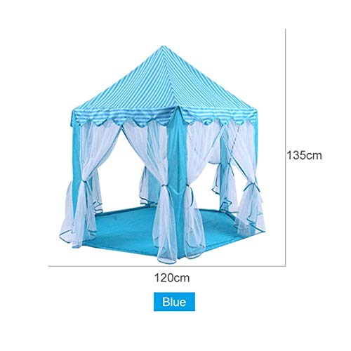 DishyKooker Tende Giocattolo per Bambini Princess Castle Gioca Tenda attività Fairy House Indoor Outdoor Playhouse Bambini Teepee Ball Pool blu