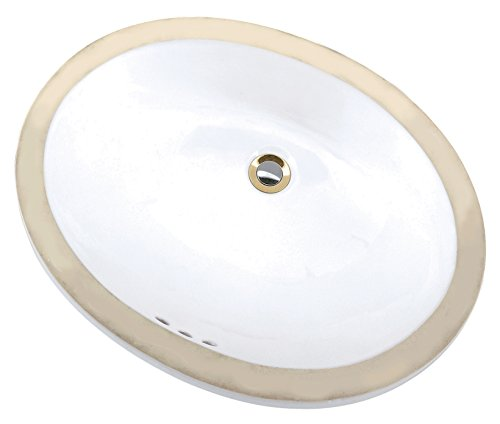 Mansfield Plumbing 216NS Under Counter Lavatory, (White Counter Lavatory)