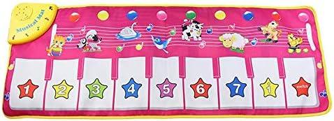 キッズ、スピーカー&幼児のための調節可能な巻、子供ミュージカルおもちゃで音楽ピアノマットダンスマット用のマットを踊ります