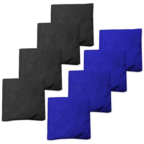 Play Platoon Weather Resistant Cornhole Bean Bags Set of 8 - Blue & Black