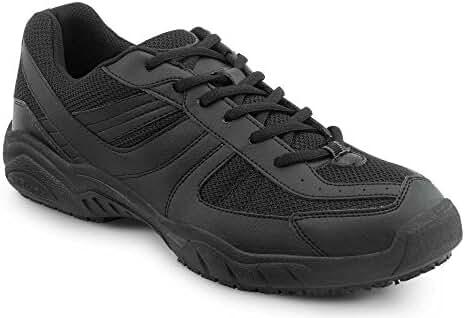 SR Max Austin Men's Black Slip Resistant Sneaker