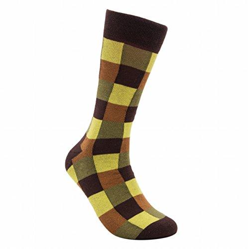 "Rambutan Men's ""Joker"" Seamless Cotton Socks US 8.5-12.5 Olive"
