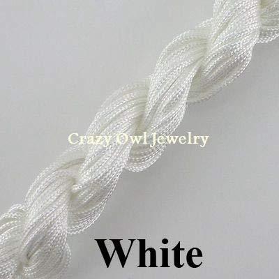 Nylon Cord Thread Chinese Knot Macrame Rattail 1.5mm For DIY Bracelet Braided