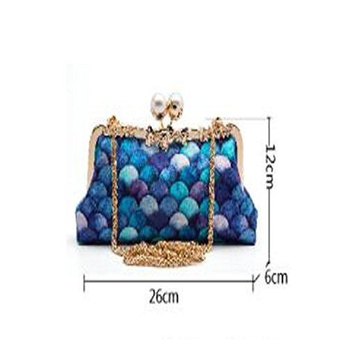 Clutch Evening Ladies Diagonal A Cheongsam Fashion Party Mermaid Bag Bag Wild Bag Party Fashion Bag dqRxwCYE