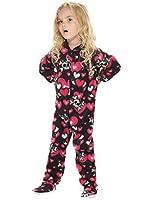 Footed Pajamas - Hearts n Skulls Toddler Fleece