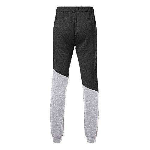 Uomo Slim Abbigliamento Nero Estiva Cuciture Sportivi Da Fit Flessibili Allenamento Uomo Fitness Zarupeng Palestra pantaloni Casual Pantaloni Con Moda Completi sportivi 80TqSS