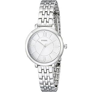 Fossil Women's Jacqueline Mini Quartz Stainless Steel Dress Watch, Color: Silver-Tone (Model: ES3797)