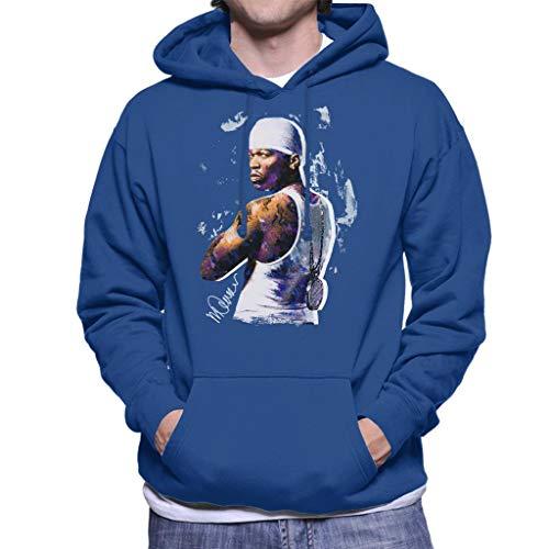 50 Cent = Clothing - Sidney Maurer Original Portrait of 50 Cent Bandana Men's Hooded Sweatshirt