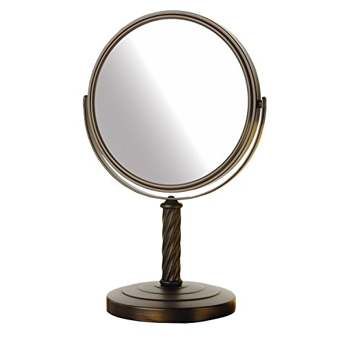(Jerdon LT5165BZ 8-Inch Mirror with 5x Magnification, Bronze)