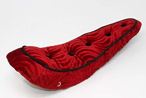 Fenix Lowrider 5 Button Polo Velour Banana Bike Saddle/Seat, (Red)