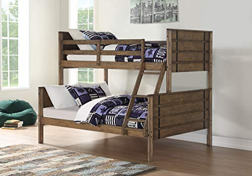 DONCO 0418-TFBA Twin Over Full Rustic Industrial Bunk Bed BUNKBED, Burnished Amber (Rustic Bed Industrial)
