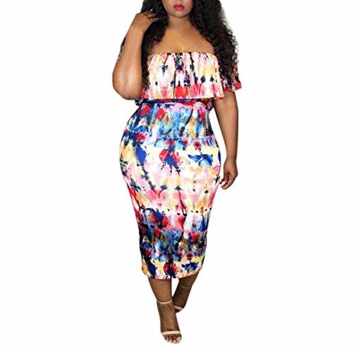 - Woman Dress Daoroka Sexy Off Shoulder Strapless Sheath Bodycon Sundress Evening Dress