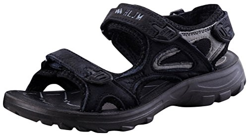 Flat Water Sandals Sandal Shoes Casual Beach Athletic Sporty Black Womens dSqvOd