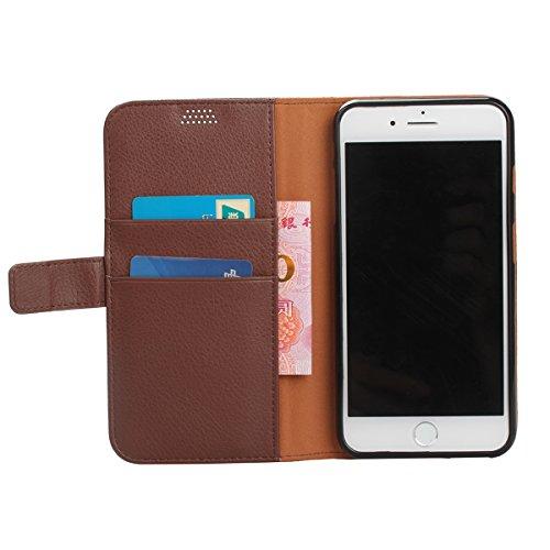 iPhone 7 Plus Hülle, Moonmini® Hot Pink PU Leder Handyhülle Magnetverschluss Brieftasche Lederhülle Tasche mit Standfunktion Card Holder für iPhone 7 Plus