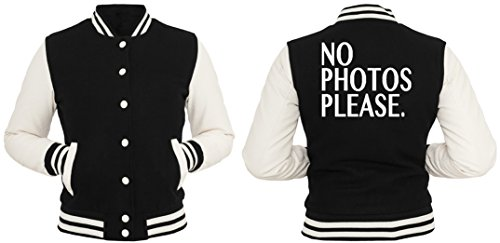No Photos Please College Vest Girls Black LdEvD