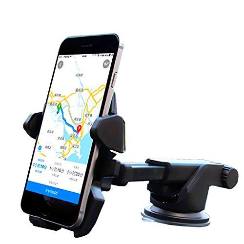 One hand,iBarbe Car Mount Universal Phone Holder Windshield