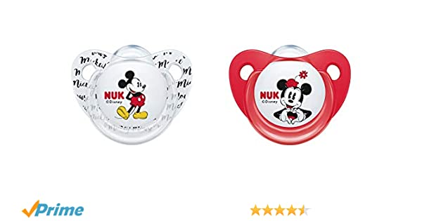 NUK 10176212 Disney Mickey Mouse Trend Line Chupete, silicona, 6 ...
