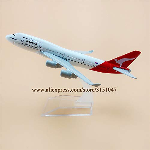 ZAMTAC 16cm Air Qantas Spirit of Australia Boeing 747 B747-400 Airlines Plane Model Metal Diecast Model Airplane Aircraft Airways Gift