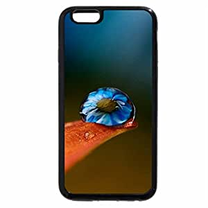 iPhone 6S / iPhone 6 Case (Black) Flower in Drop