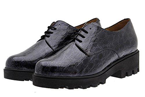 Confort Gris grey Piesanto Chaussure Femme Confortables À Cuir Amples 175551 En Lacets Fqgxw5B