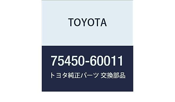 TOYOTA 75450-60011 Name Plate