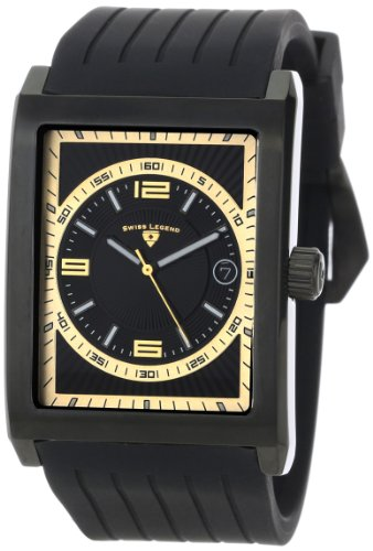 Swiss Legend Men's 40012-BB-01-GA Limousine Black Textured Dial Black Silicone Watch