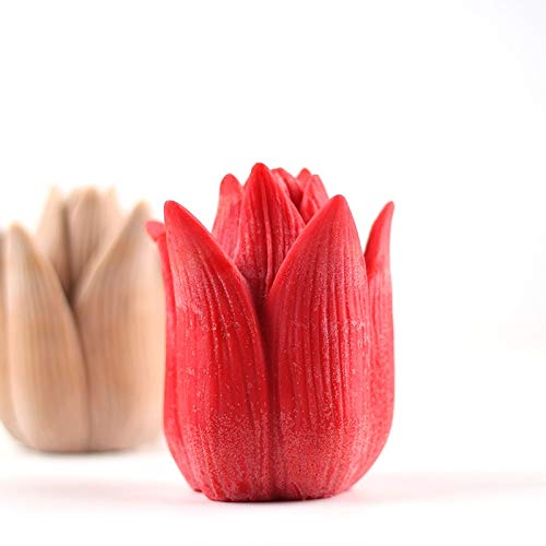 Candle Molds: Nicole Silicone Candle Mold 3D Flower Handmade Soap Making Mould by Tuavit (Image #2)