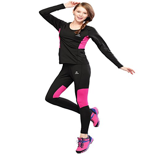 The First Outdoor Women's Athletic Thermal Underwear Set Small Black