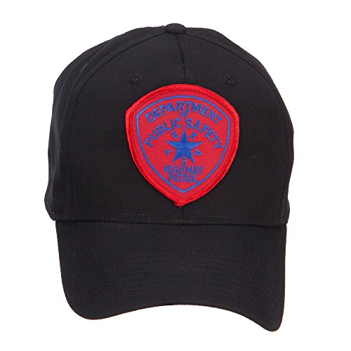 E4hats Texas State Highway Patrol Patched Cap - Black (Highway Patrol Hats)