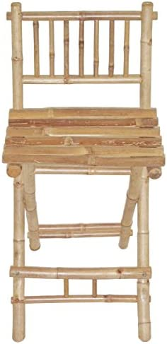 Bamboo Exotic Folding Bar Stool w Footrest – Set of 2
