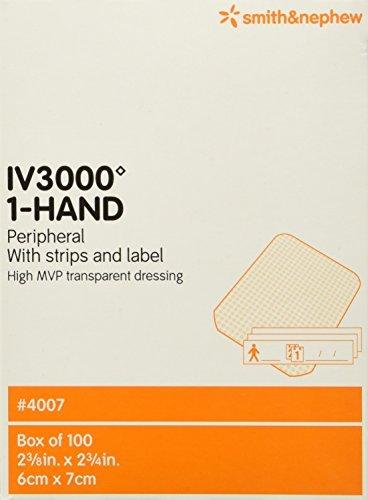 Iv 3000 Dressing - Smith & Nephew IV 3000 1-Hand Transparent Dressing, 100 Count