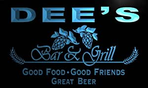 pr961-b Dee's Bar & Grill Beer Wine Neon Light Sign