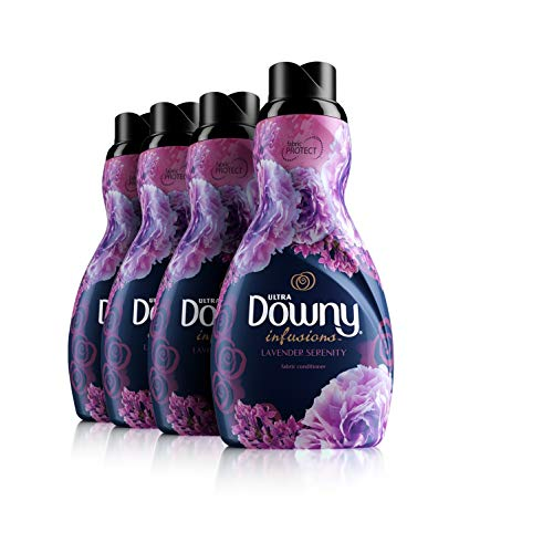 Downy Infusions Lavender Serenity Liquid Fabric Conditioner, 4 Count
