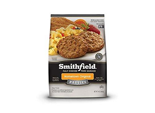 SMITHFIELD SAUSAGE PATTIES HOMETOWN ORIGINAL 24 OZ PACK OF 2