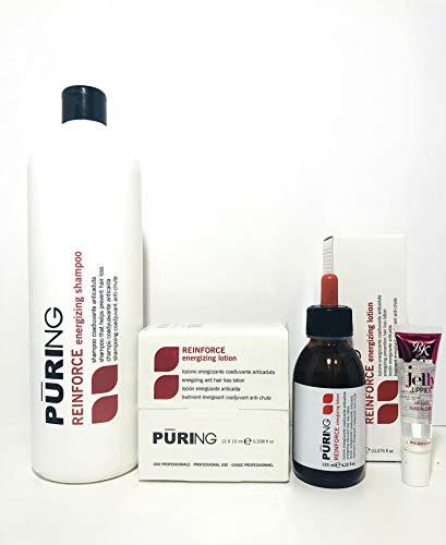 Mx Puring Vigor Reinforce for Weak Hair 3pc Kit: Shampoo 33.8 Oz, Vigor Lotion (12x7 Ml Phials) Lotion Dropper 125ml