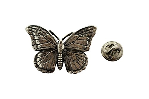 (Sarah's Treats & Treasures Monarch Butterfly Pin ~ Antiqued Pewter ~ Lapel Pin)