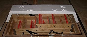 Superbe Attic Stair Cover Insulating And Magnetically Sealing Your Pull Down Stairs