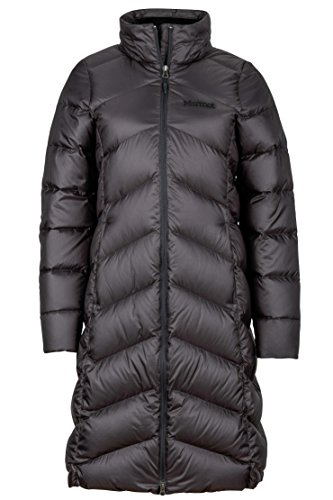 Marmot Montreaux Women's Full-Length Down Puffer Coat, Fill Power 700, Jet Black, Medium