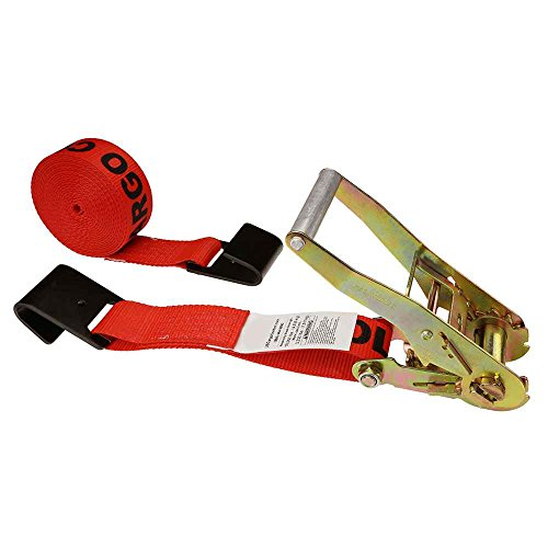 Ratchet Strap Black Flat Hook