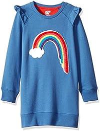Amazon Brand - Spotted Zebra Girl's Toddler & Kids French Terry Knit Ruffle Raglan Dress