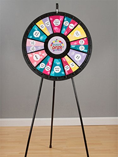 Marketing Holders 12- 24 Slot Blk Adaptable Floor Stand Prize Wheel 63016