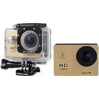 Boyiya Mini 1080P Full HD DV Sports Recorder Car Waterproof 170°Wide Angle Action Camera Camcorder (Gold)